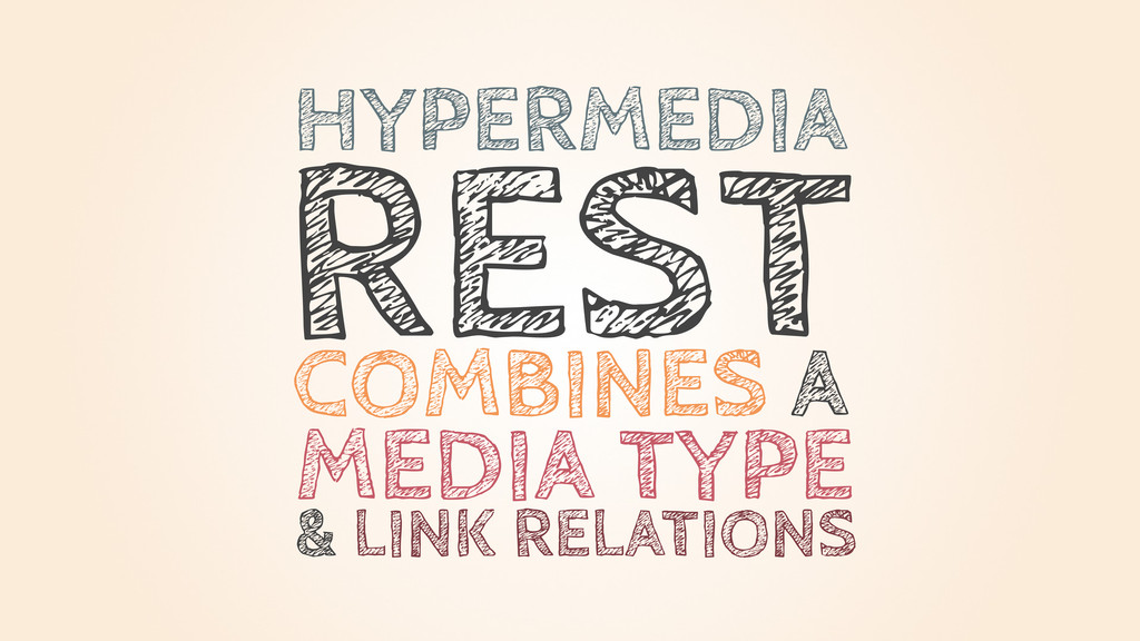 REST HYPERMEDIA COMBINES A MEDIA TYPE & LINK RE...