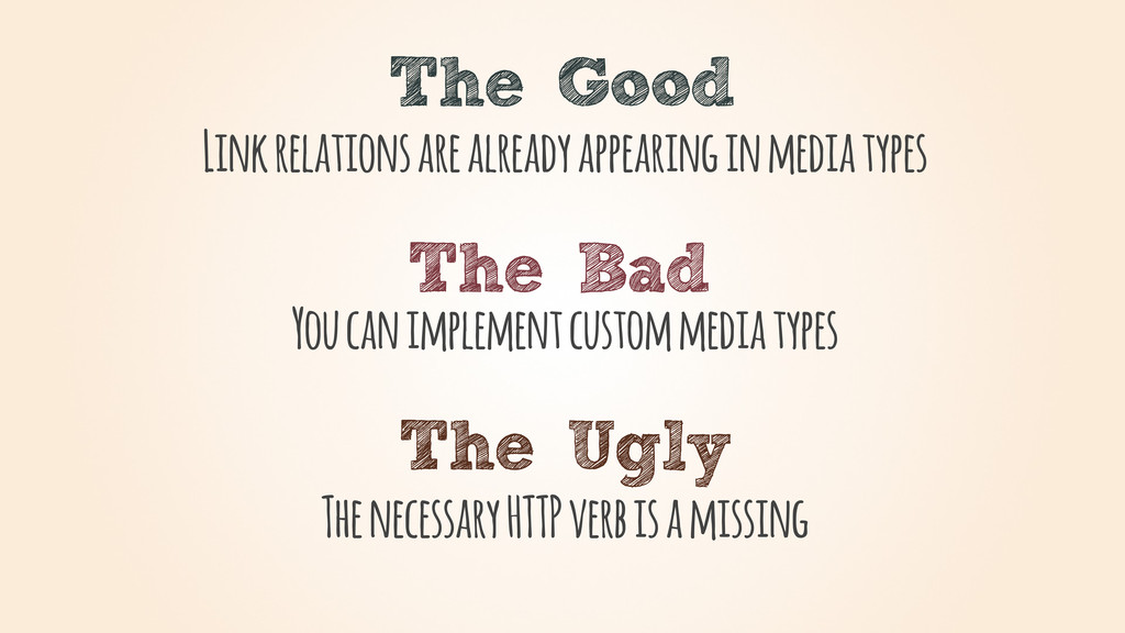 The Good The Bad The Ugly Link relations are al...
