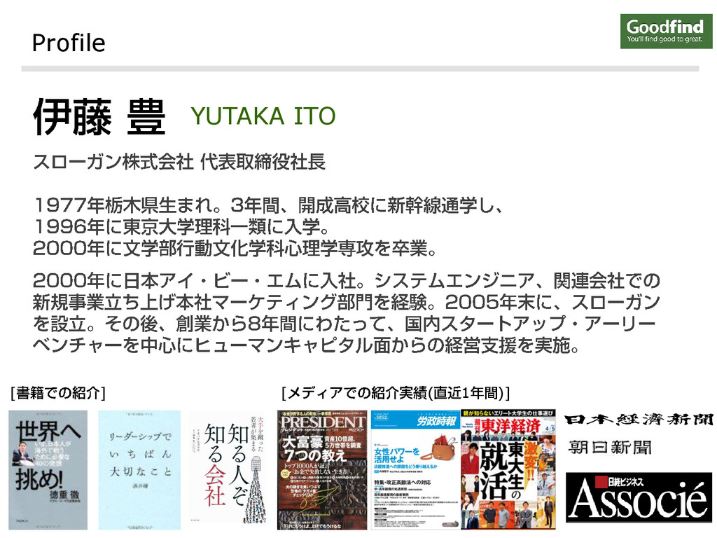 Profile YUTAKA ITO [ ] [ ( 1 )]