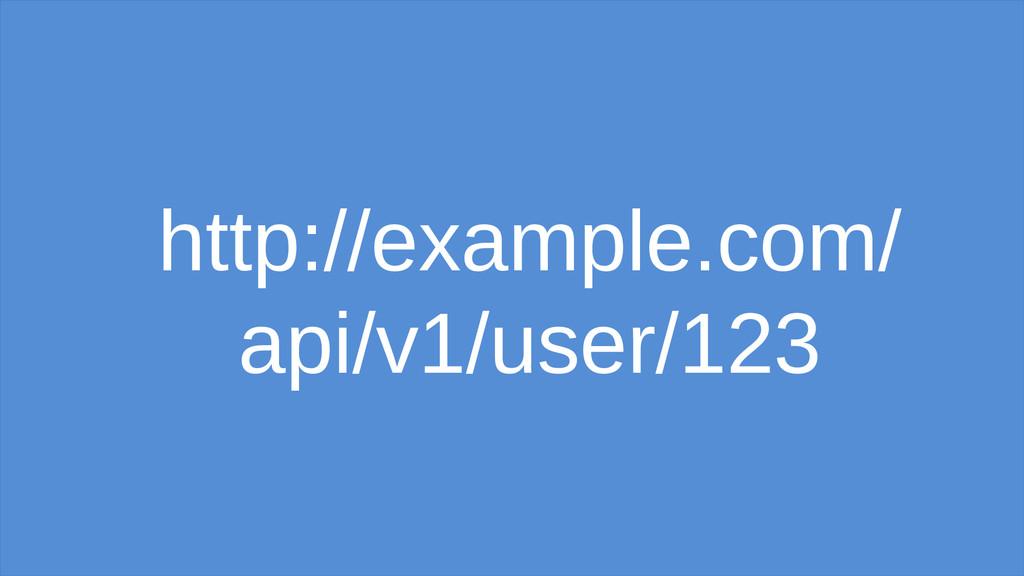 http://example.com/ api/v1/user/123