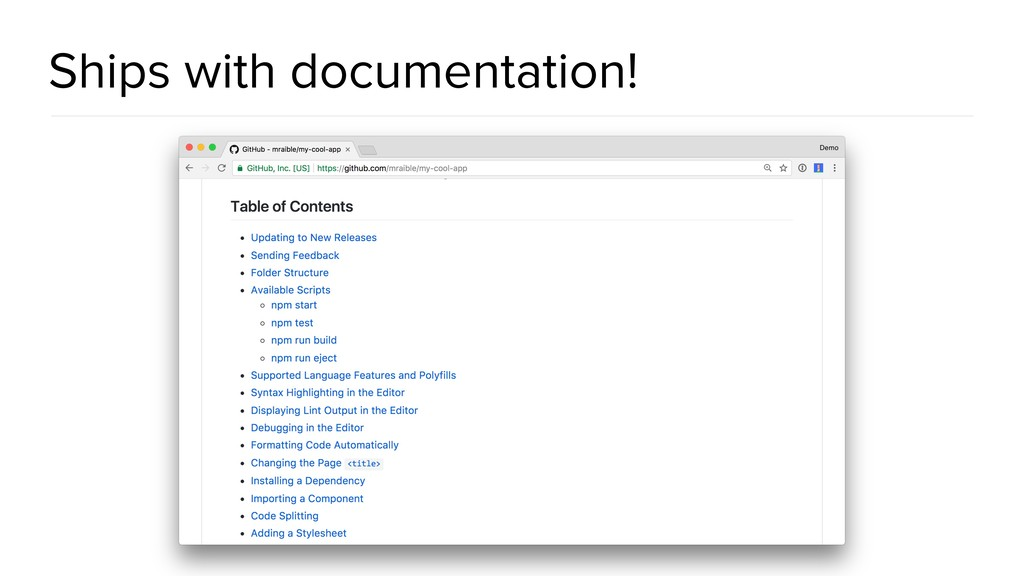 Ships with documentation!