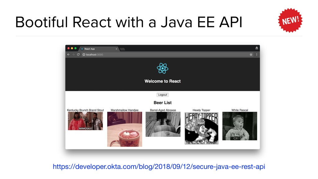 Bootiful React with a Java EE API https://devel...