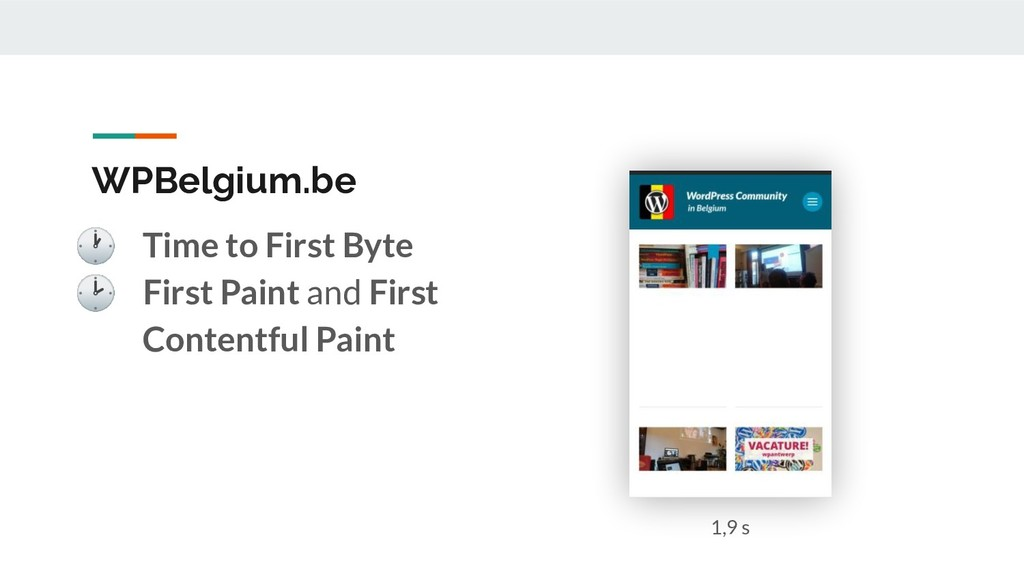 WPBelgium.be  Time to First Byte  First Paint a...