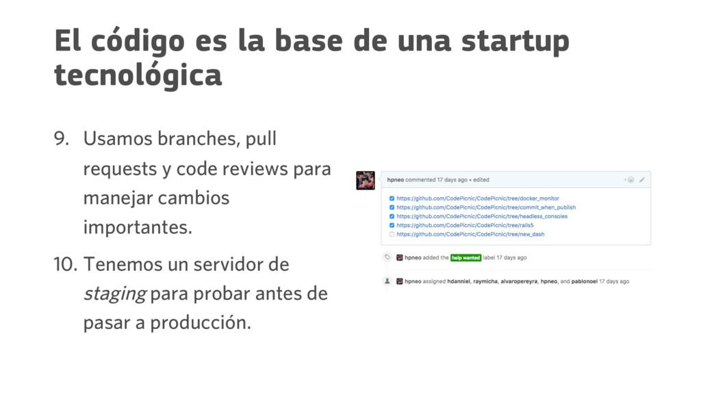 El código es la base de una startup tecnológica...