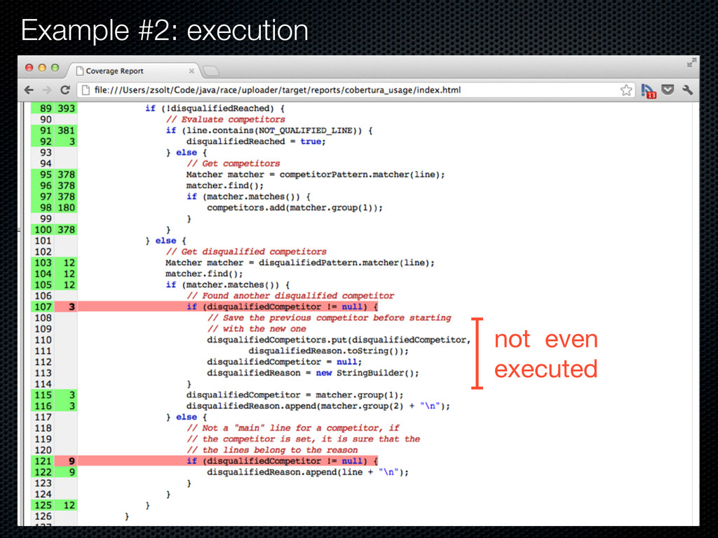 Example #2: execution not even executed