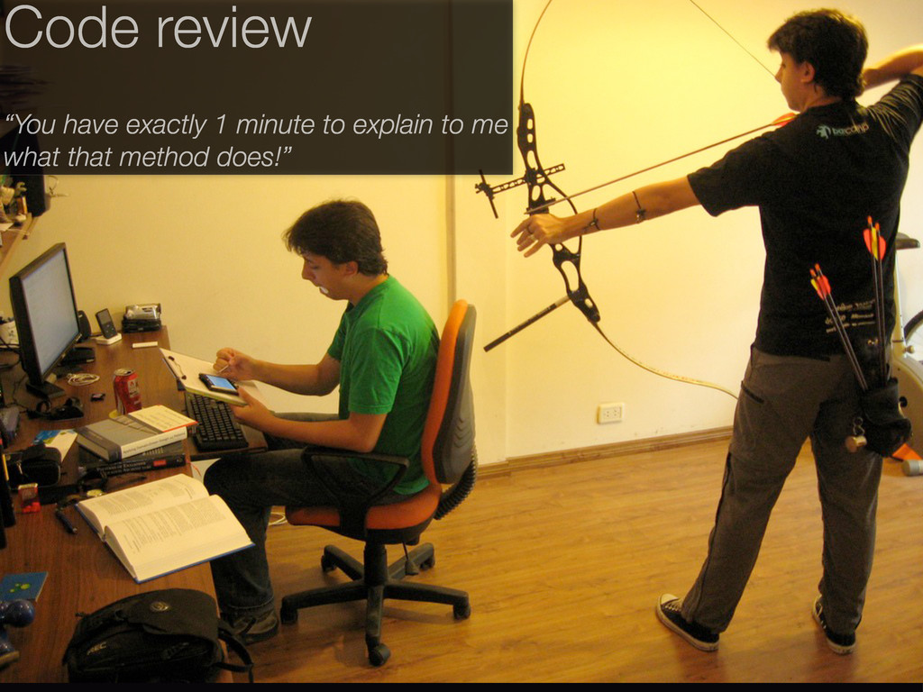 """Code review """"You have exactly 1 minute to expla..."""