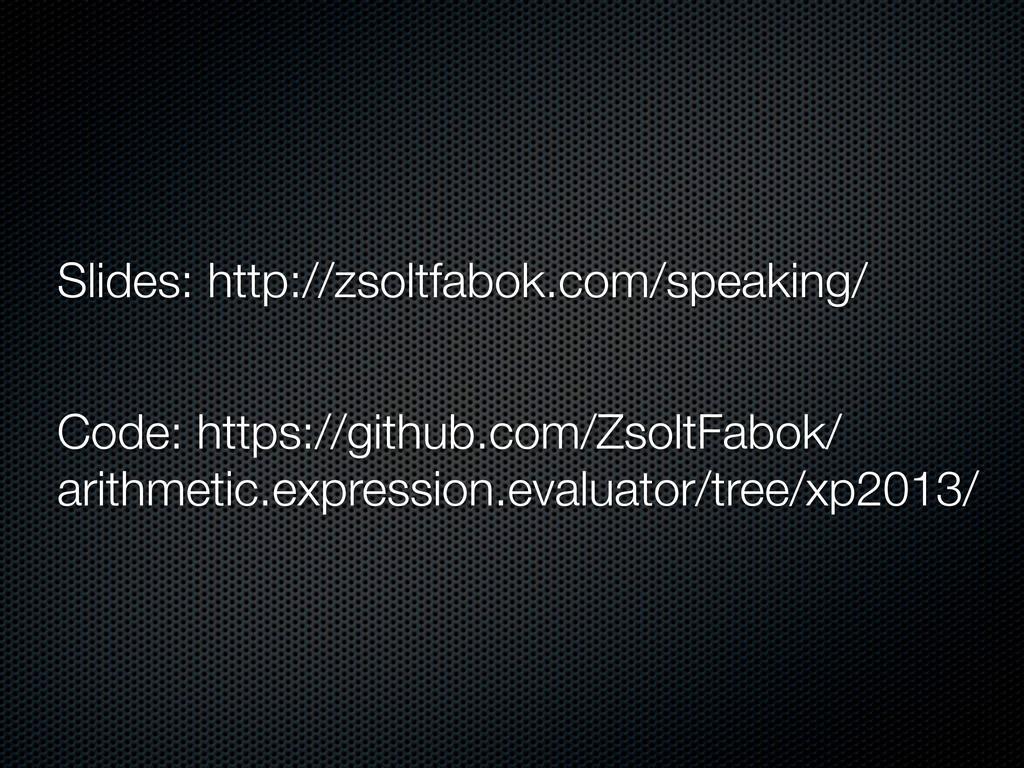 Slides: http://zsoltfabok.com/speaking/ Code: h...