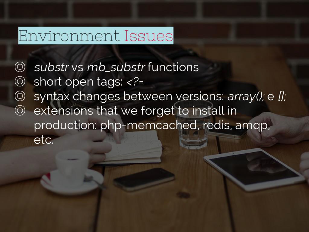 Environment Issues ◎ substr vs mb_substr functi...
