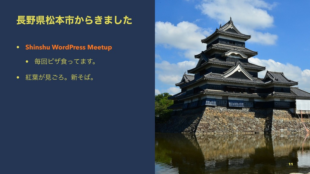 ௕໺ݝদຊࢢ͔Β͖·ͨ͠ • Shinshu WordPress Meetup • ຖճϐβ৯...