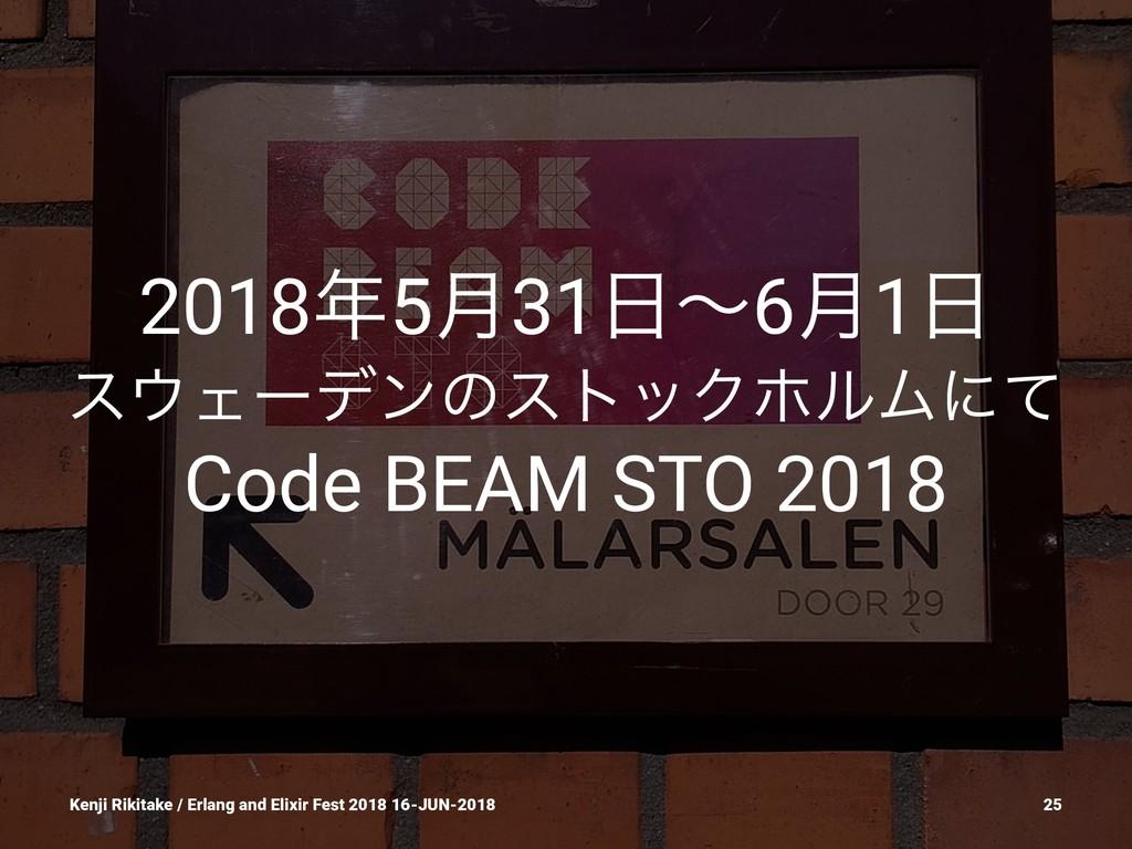 20185݄31ʙ6݄1 εΣʔσϯͷετοΫϗϧϜʹͯ Code BEAM STO ...