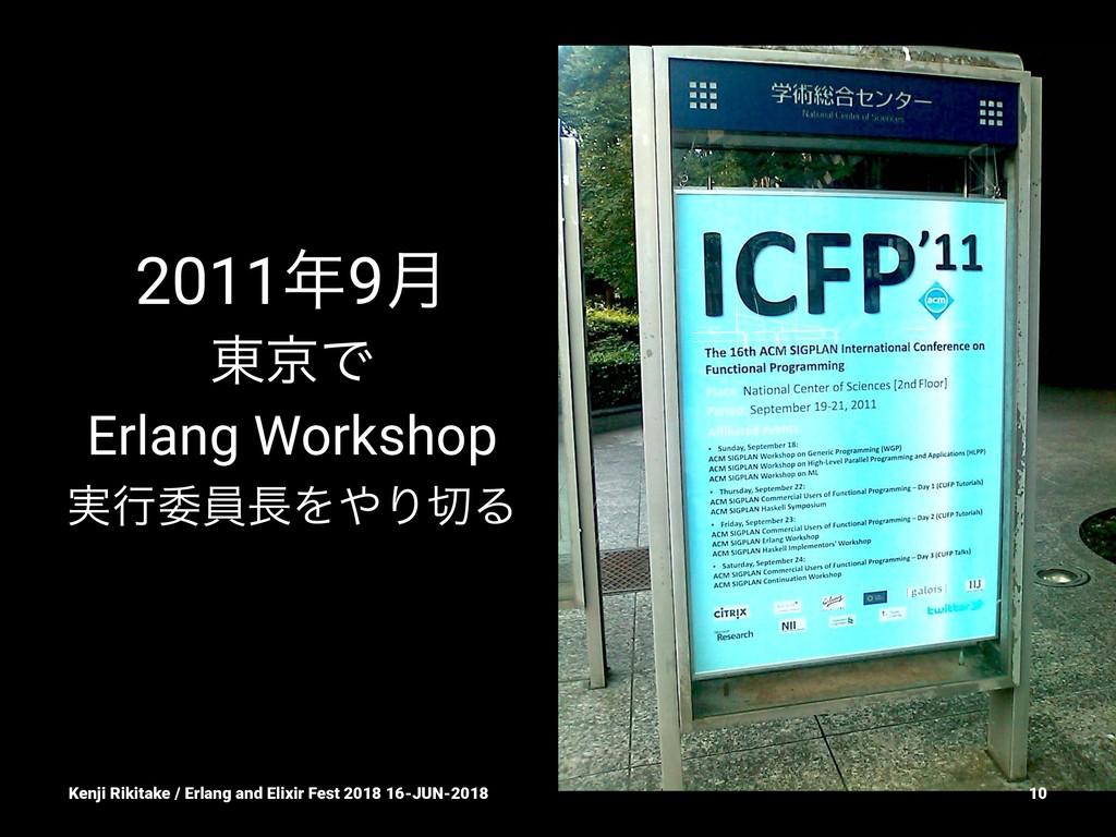 20119݄ ౦ژͰ Erlang Workshop ࣮ߦҕһΛΓΔ Kenji Ri...