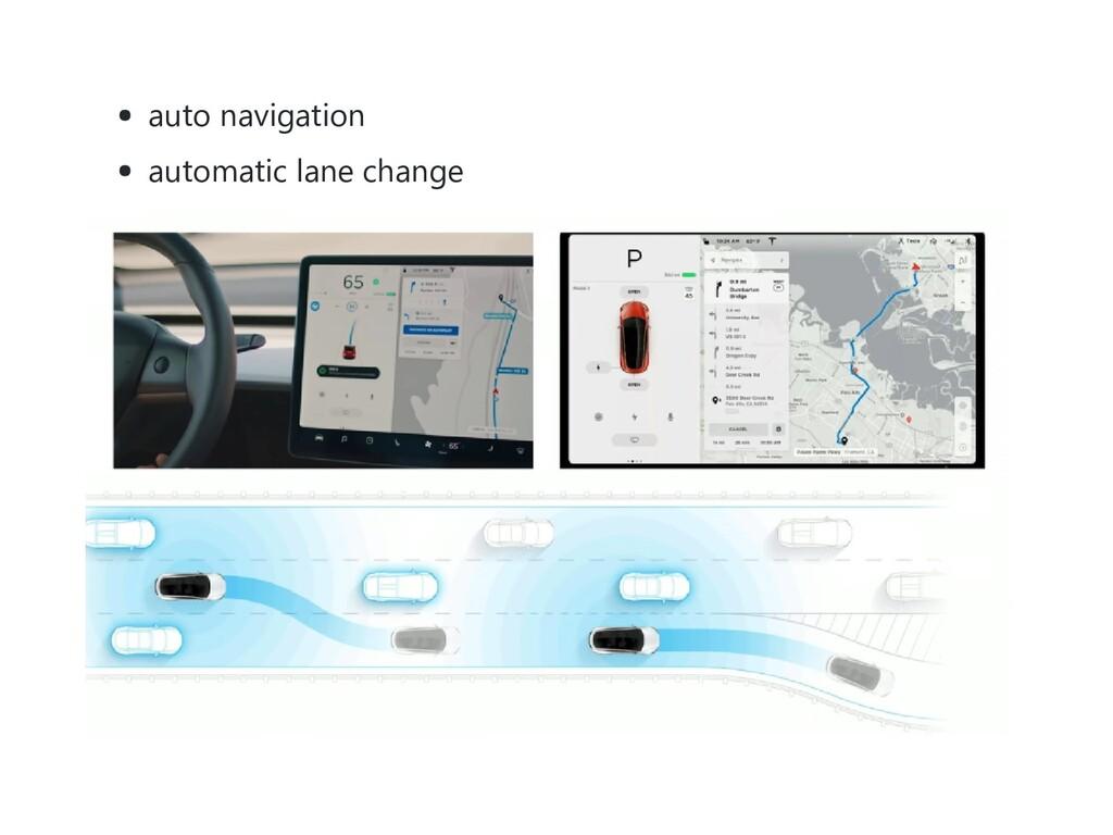 auto navigation automatic lane change