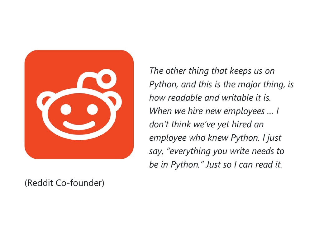 The other thing that keeps us on Python, and th...