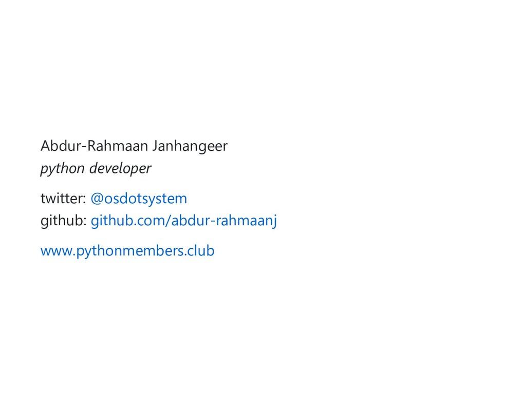 Abdur-Rahmaan Janhangeer python developer twitt...