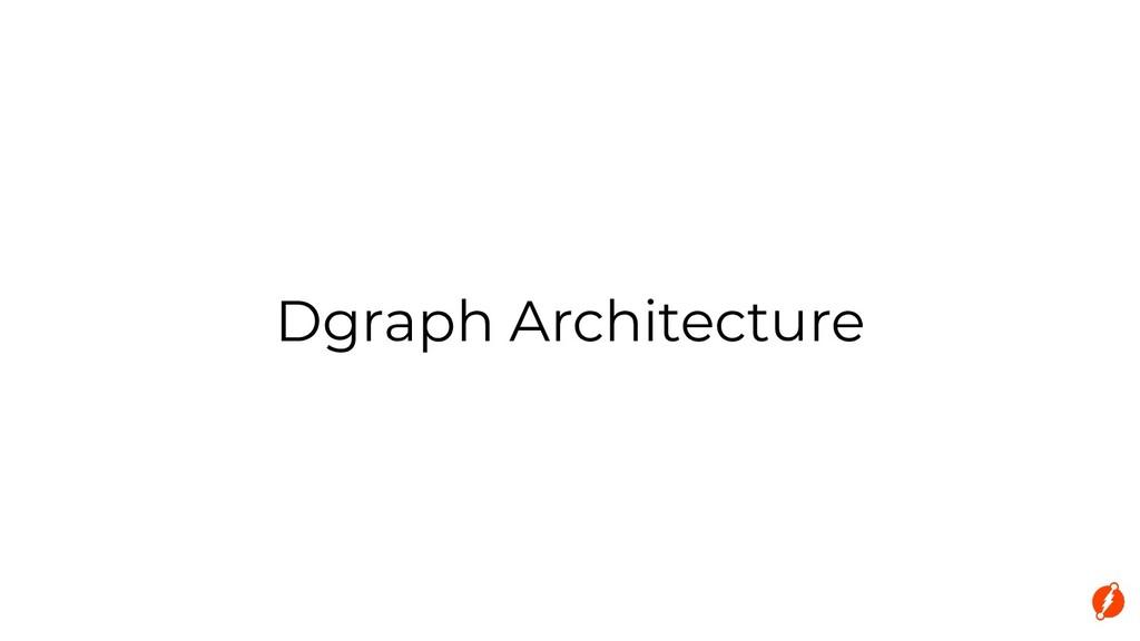 Dgraph Architecture