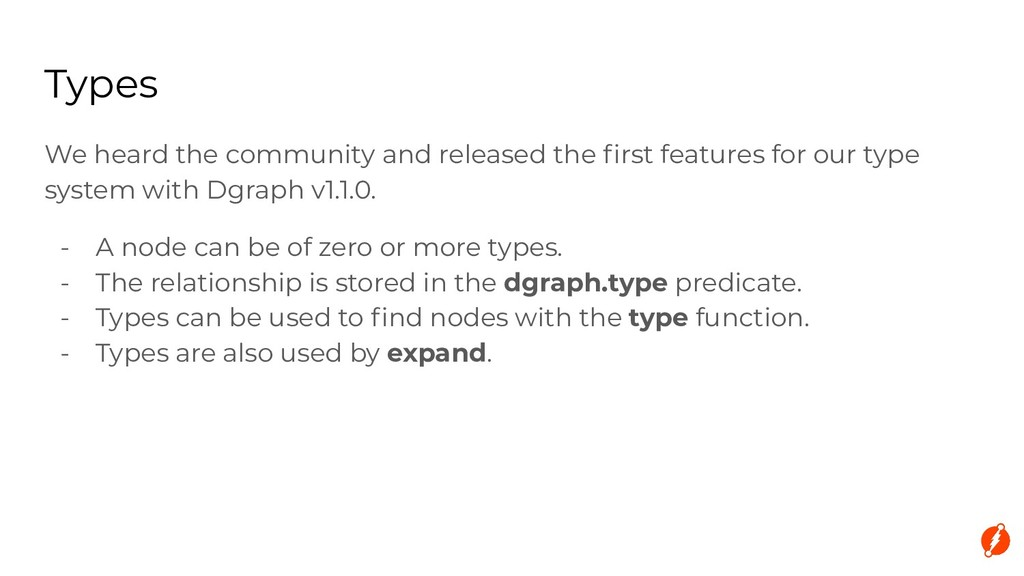 Types We heard the community and released the fi...