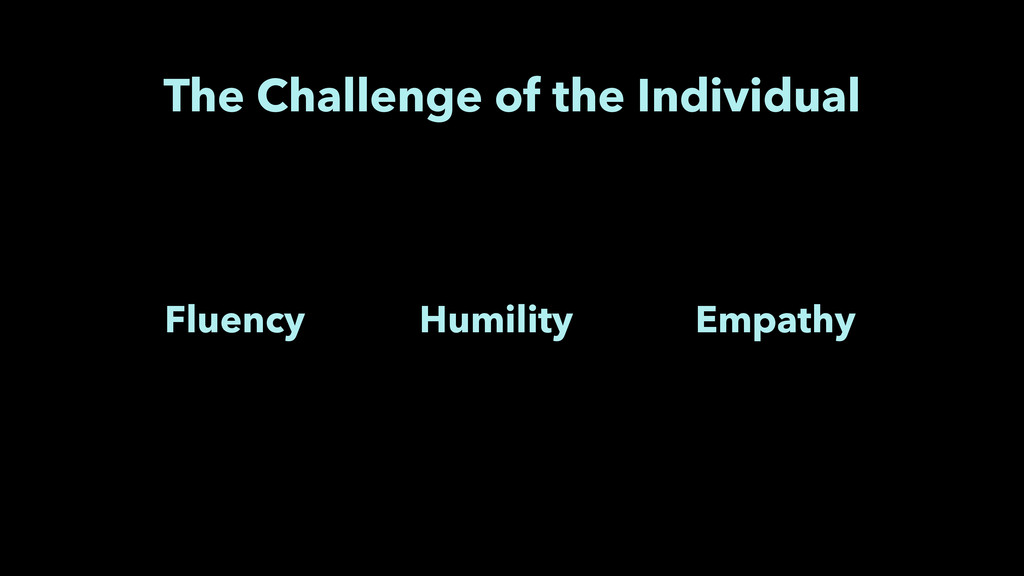 The Challenge of the Individual Fluency Humilit...