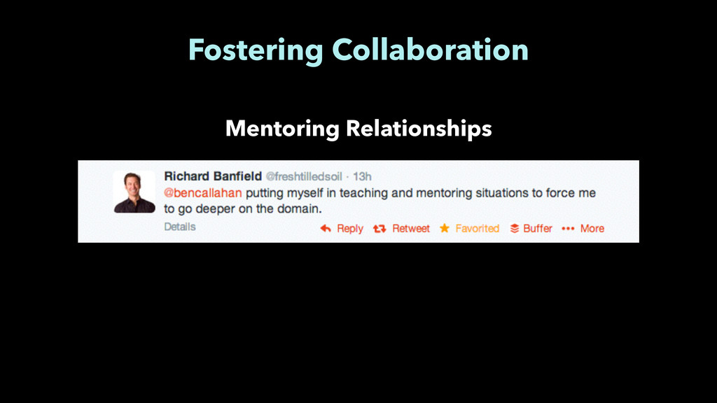 Fostering Collaboration Mentoring Relationships