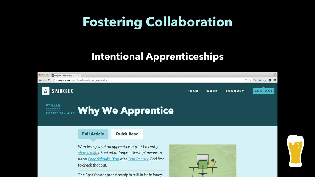 Fostering Collaboration Intentional Apprentices...