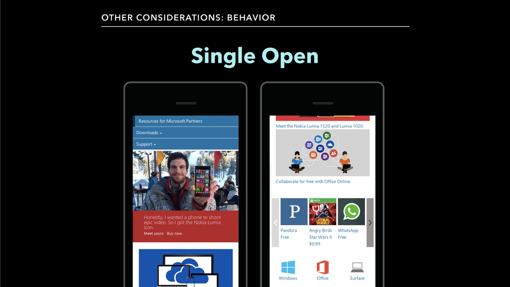 OTHER CONSIDERATIONS: BEHAVIOR Single Open