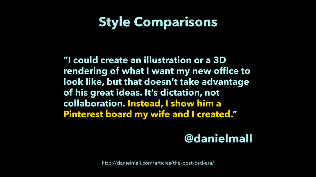 "Style Comparisons ""I could create an illustrati..."