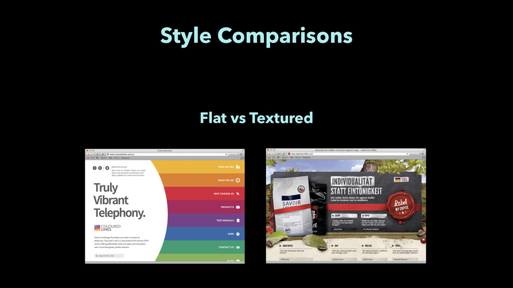 Style Comparisons Flat vs Textured