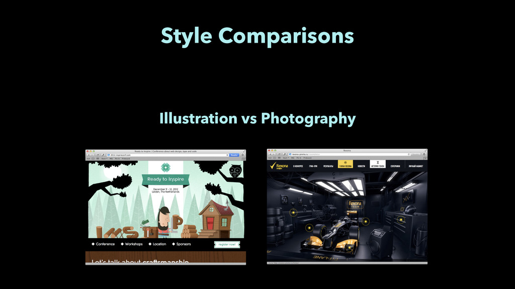 Style Comparisons Illustration vs Photography