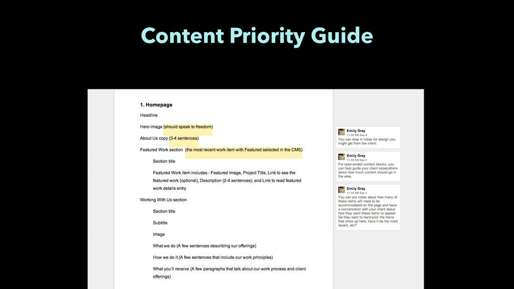 Content Priority Guide