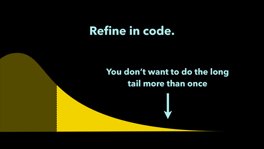 Refine in code. You don't want to do the long ta...