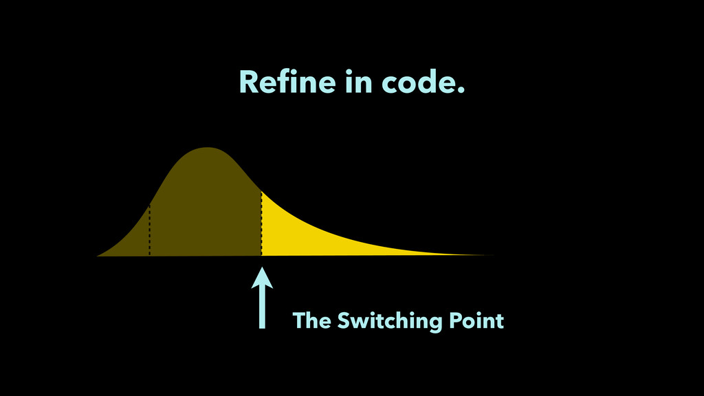 Refine in code. The Switching Point