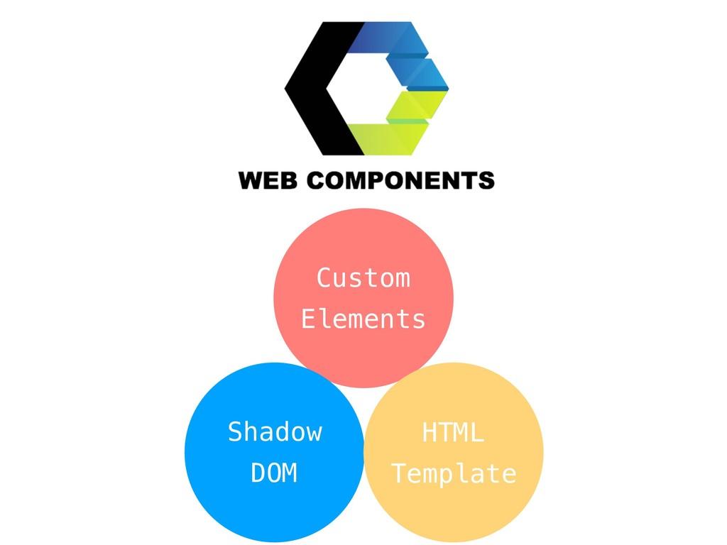 Custom Elements Shadow DOM HTML Template