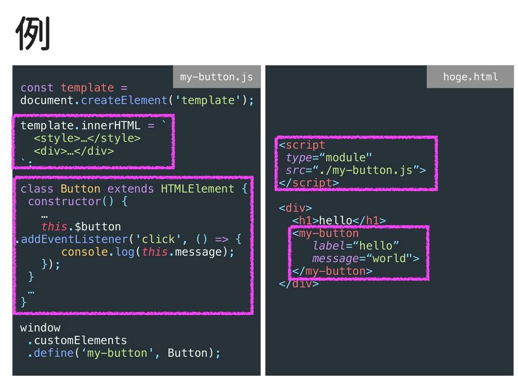 例 const template = document.createElement('temp...
