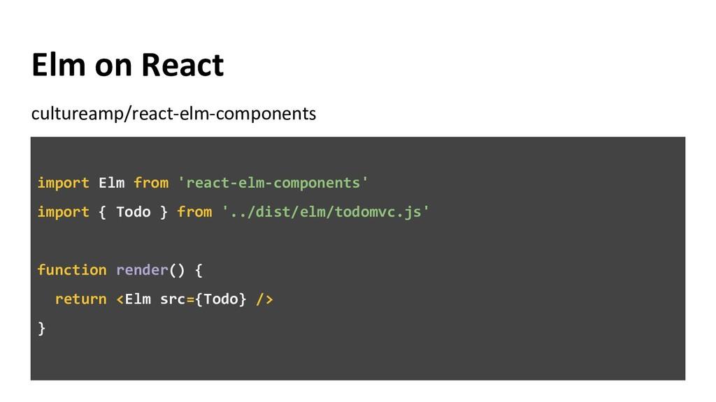 Elm on React cultureamp/react-elm-components im...