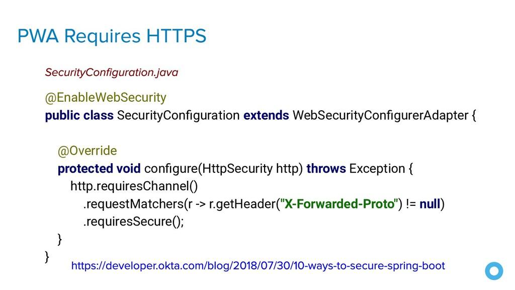 @EnableWebSecurity public class SecurityConfigur...