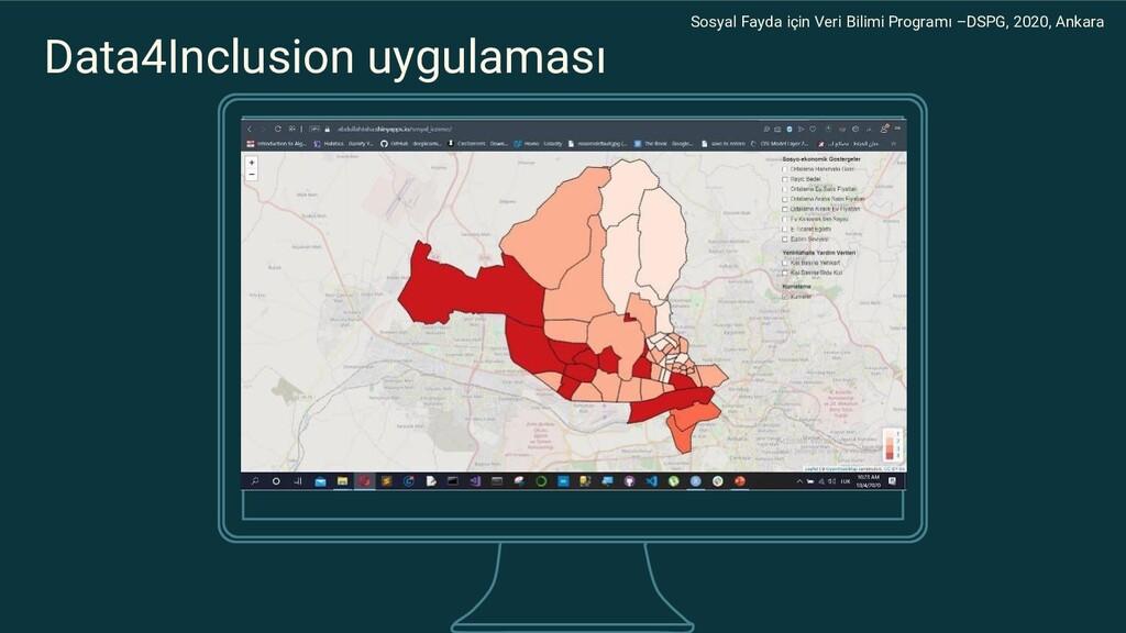 Data4Inclusion uygulaması Sosyal Fayda için Ver...