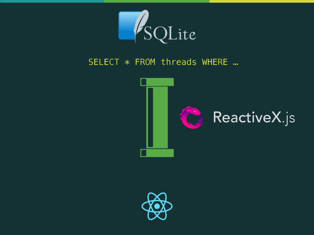 ReactiveX.js SELECT * FROM threads WHERE …