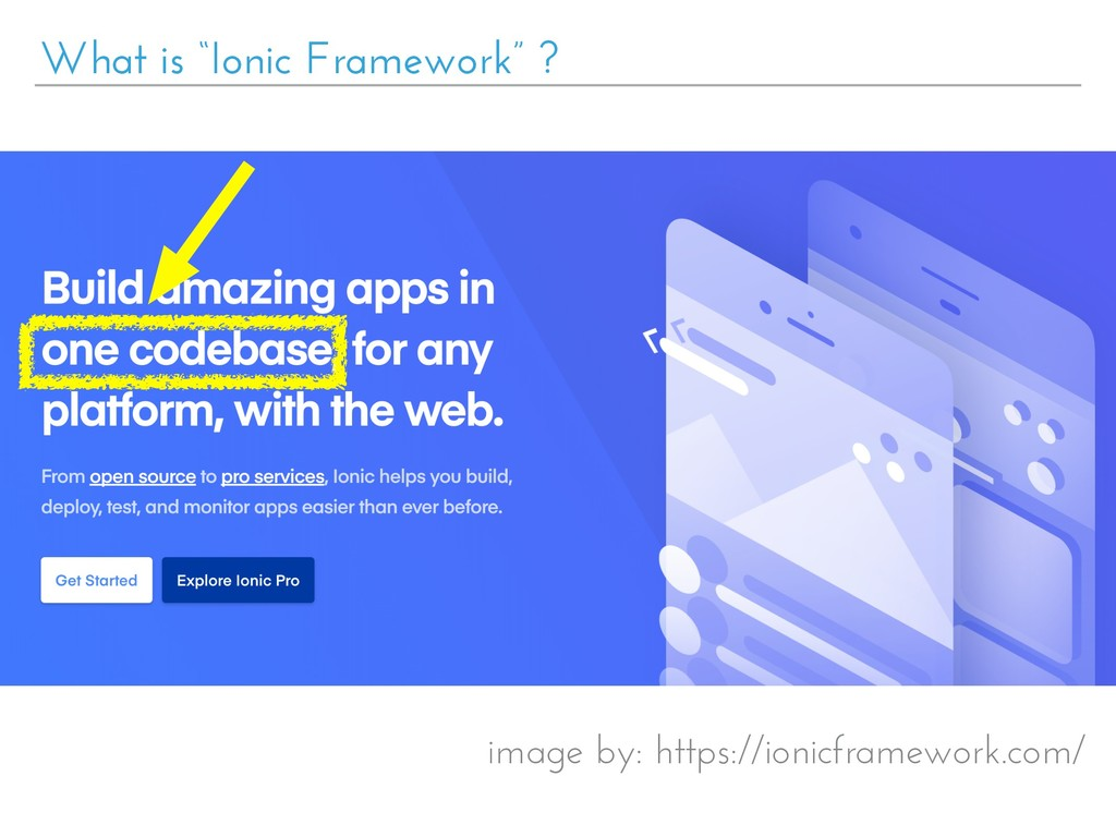 "What is ""Ionic Framework"" ? image by: https://i..."