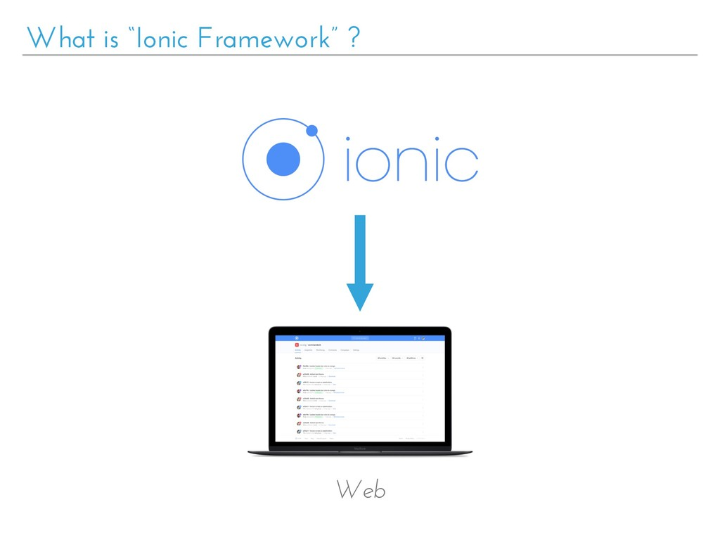 "What is ""Ionic Framework"" ? Web"