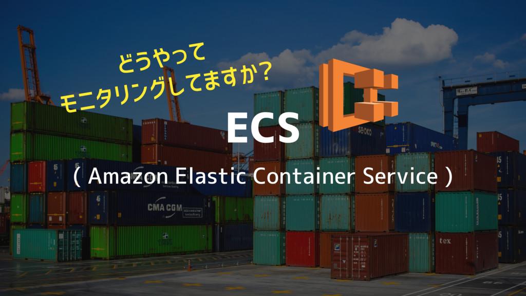 ECS ( Amazon Elastic Container Service ) どうやって ...