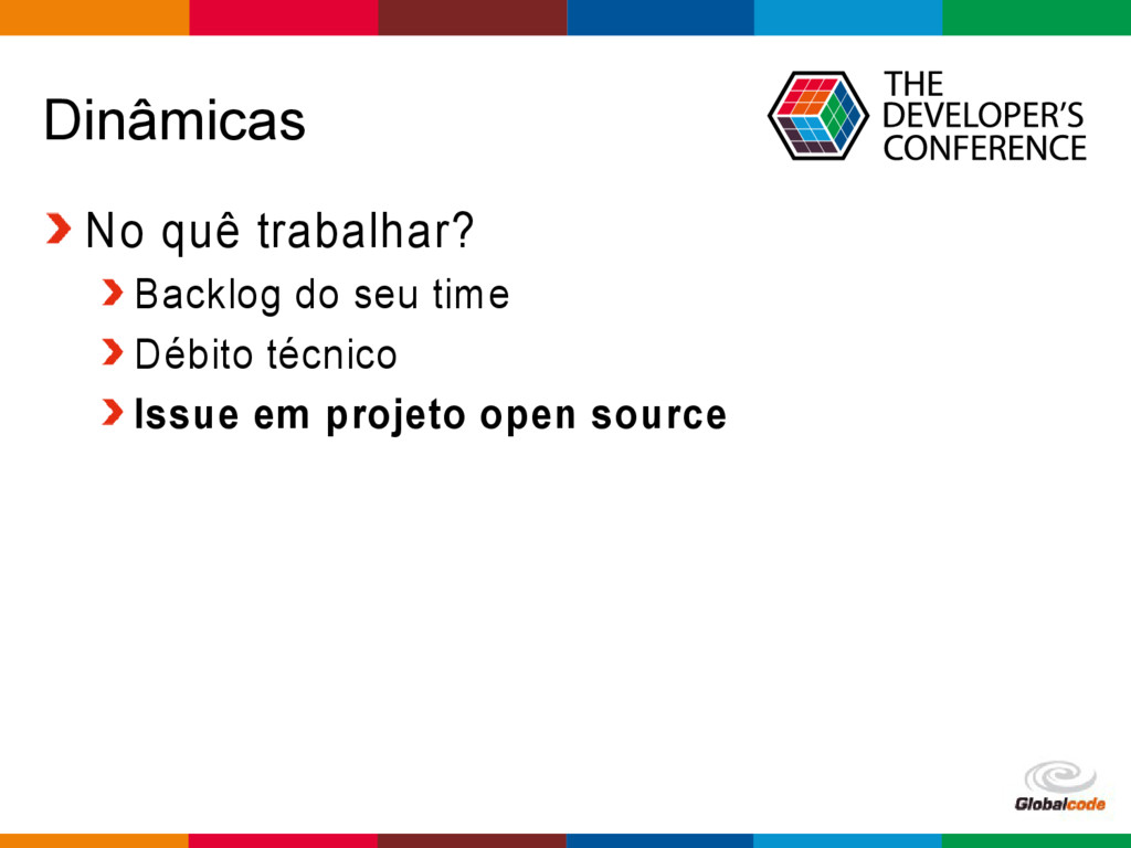 Globalcode – Open4education Dinâmicas No quê tr...