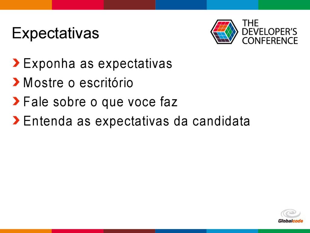 Globalcode – Open4education Expectativas Exponh...