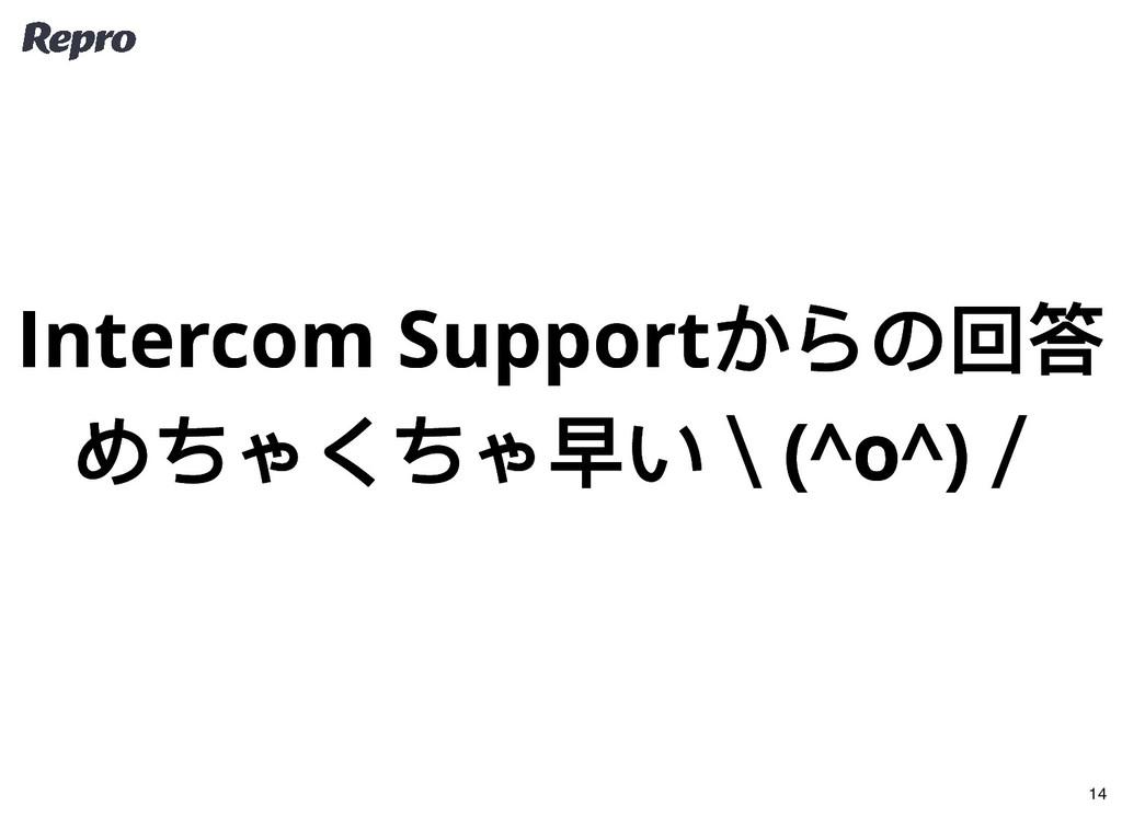 Intercom Support からの回答 Intercom Support からの回答 め...