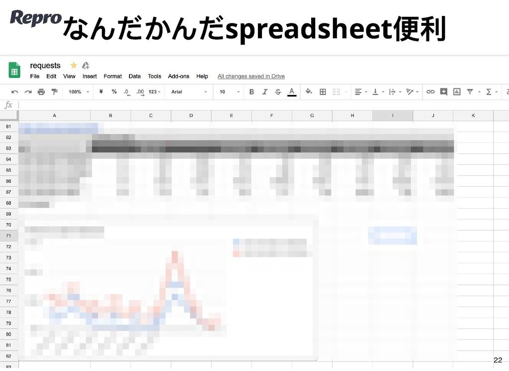 なんだかんだspreadsheet 便利 なんだかんだspreadsheet 便利 22