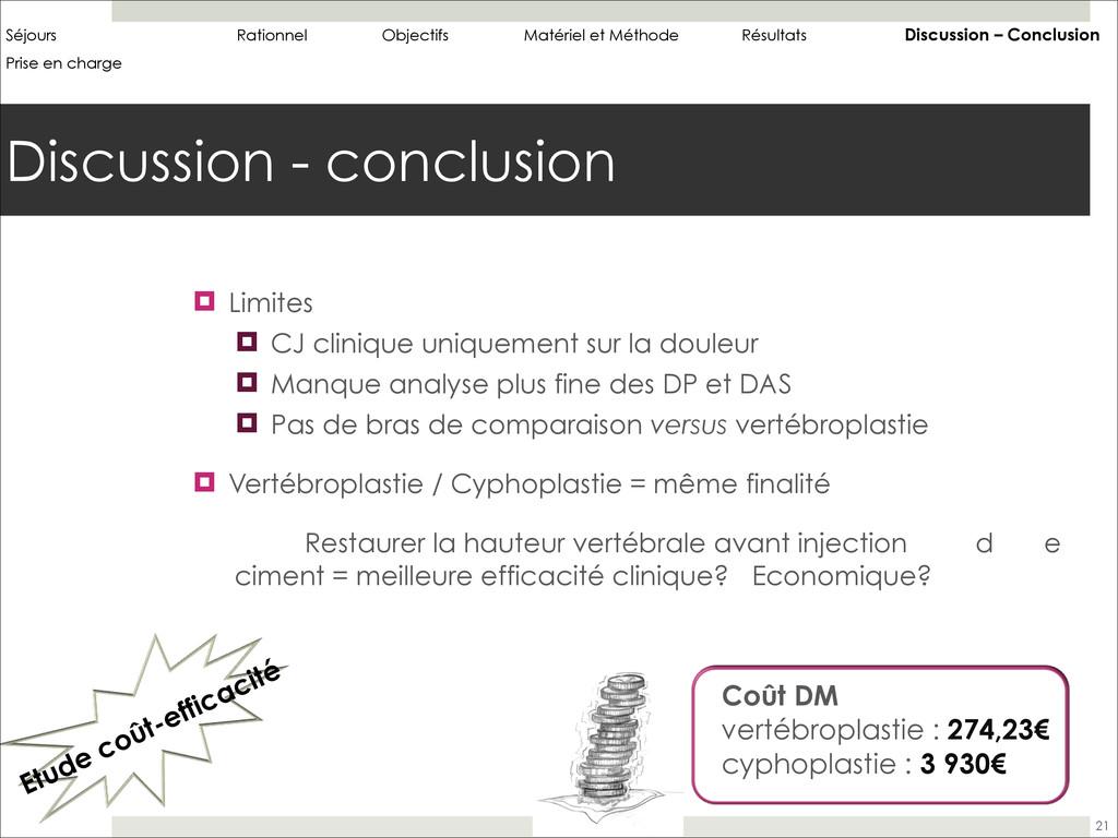Discussion - conclusion 21 ! Limites ! CJ clini...