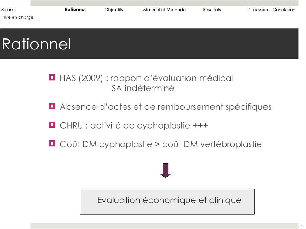 Rationnel 4 ! HAS (2009) : rapport d'évaluation...