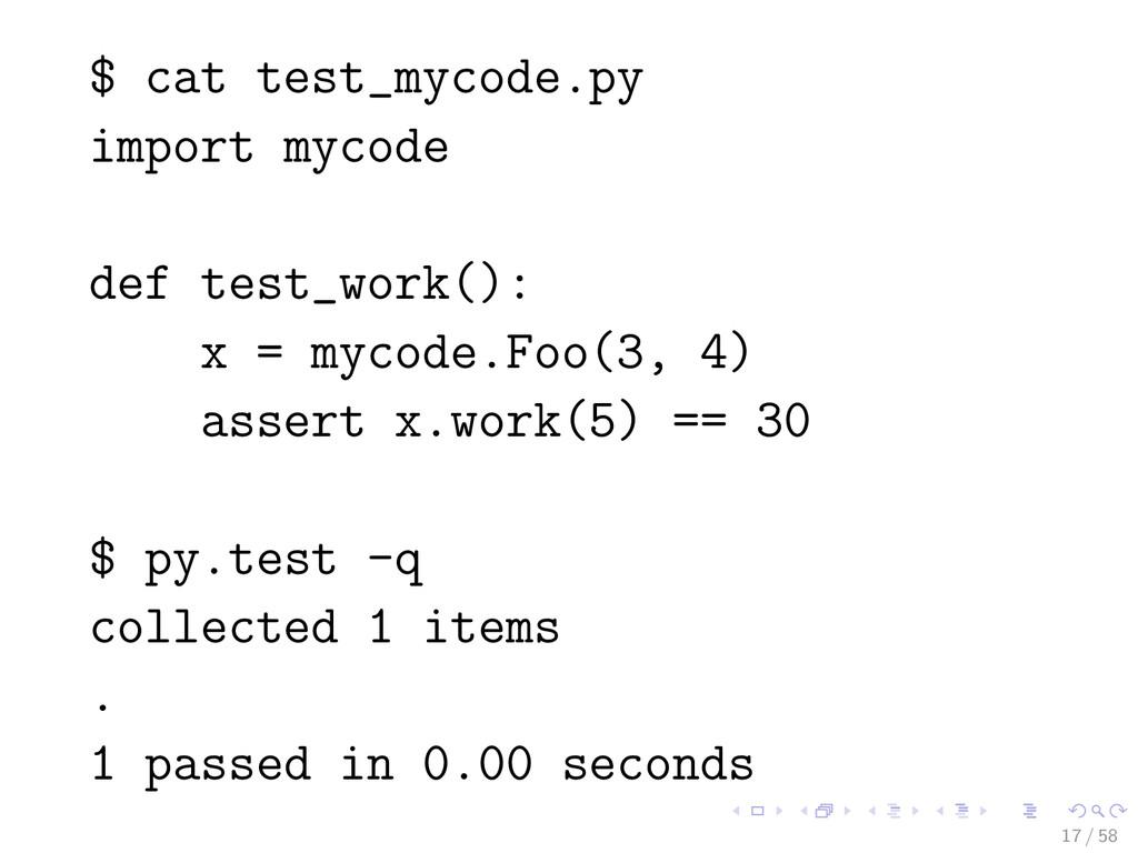 $ cat test_mycode.py import mycode def test_wor...