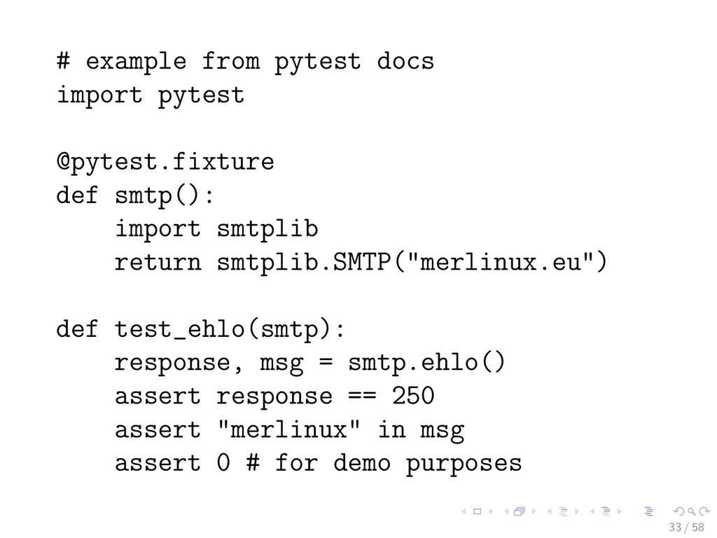 # example from pytest docs import pytest @pytes...
