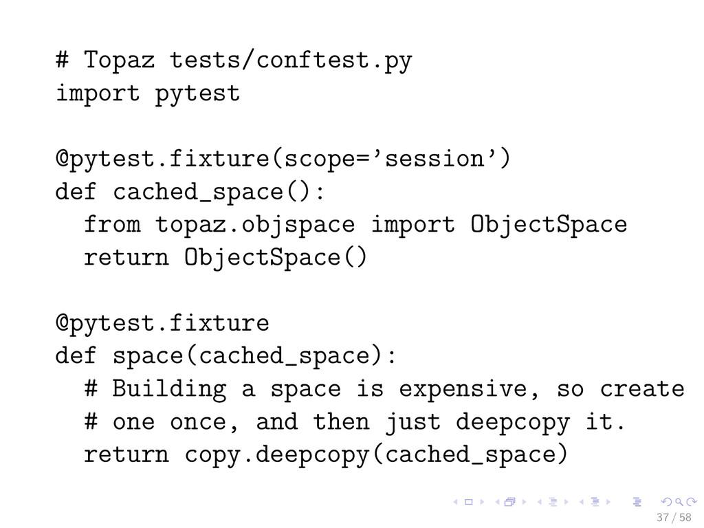 # Topaz tests/conftest.py import pytest @pytest...