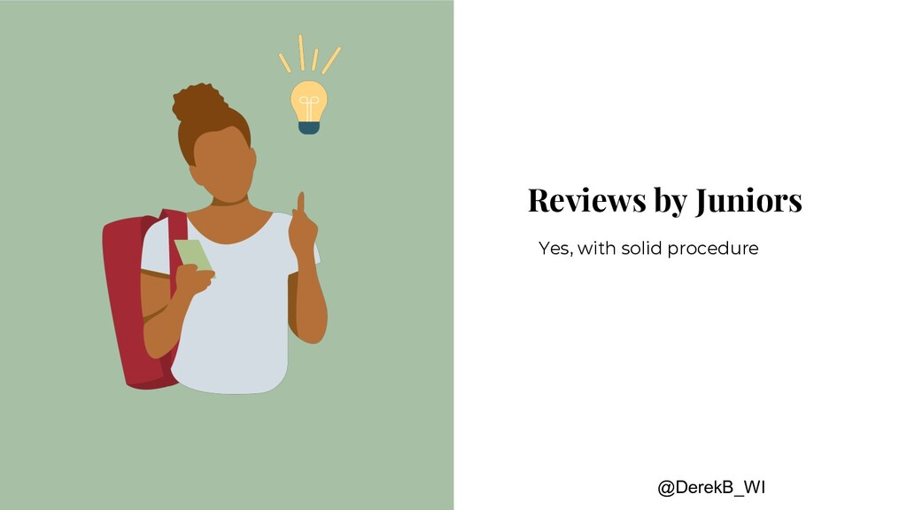 @DerekB_WI Reviews by Juniors Yes, with solid p...