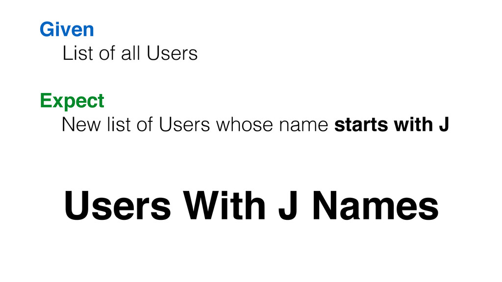 Given! List of all Users Users With J Names Exp...